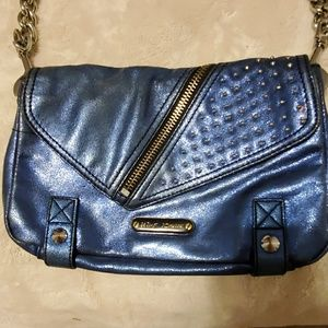 Metallic blue betsey Johnson purse